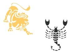 affinit lion avec scorpion. Black Bedroom Furniture Sets. Home Design Ideas